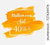 halloween sale 40  off sign... | Shutterstock .eps vector #727634476