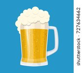lager glass beer icon isolated... | Shutterstock . vector #727634662