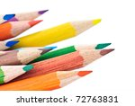 colered crayon   pencil macro... | Shutterstock . vector #72763831