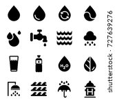 vector water icons set on white ... | Shutterstock .eps vector #727639276