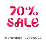 vector illustration. red ribbon ... | Shutterstock .eps vector #727640722