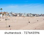 houses are on manhattan beach... | Shutterstock . vector #727643596