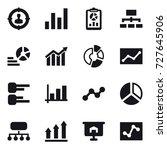 16 vector icon set   target... | Shutterstock .eps vector #727645906