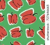 paprika red pepper vector... | Shutterstock .eps vector #727646665
