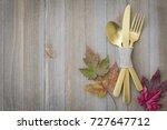 thanksgiving table setting | Shutterstock . vector #727647712