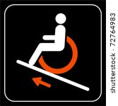 disabled people wheelchair ramp ... | Shutterstock .eps vector #72764983