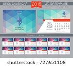 calendar 2017. design desk... | Shutterstock .eps vector #727651108