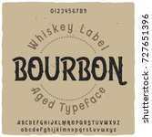 vintage label typeface named ... | Shutterstock .eps vector #727651396