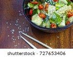 close up of chinese broken...   Shutterstock . vector #727653406