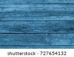 Blue Painted Planks Of Wood...