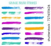 modern watercolor daubs set ... | Shutterstock .eps vector #727655626