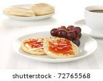 A Toasted English Muffin With...