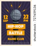 hip hop poster with microphone. ... | Shutterstock .eps vector #727659136