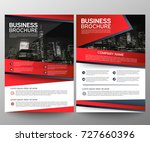 business brochure flyer design... | Shutterstock .eps vector #727660396
