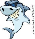 cool cartoon shark wearing...