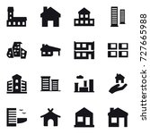 16 vector icon set   mansion ... | Shutterstock .eps vector #727665988