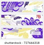 hand drawn creative universal... | Shutterstock .eps vector #727666318