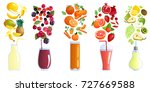 smoothie colored isolated... | Shutterstock .eps vector #727669588