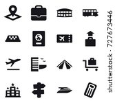 16 vector icon set   pointer ... | Shutterstock .eps vector #727673446