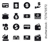 16 vector icon set   card ... | Shutterstock .eps vector #727673572
