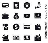16 vector icon set   card ... | Shutterstock .eps vector #727673572