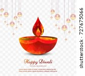 modern colorful diwali bright... | Shutterstock .eps vector #727675066