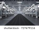 3d rendering robotic machines...   Shutterstock . vector #727679116