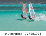 Couple Windsurfers In The...
