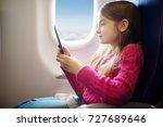 adorable little child traveling ... | Shutterstock . vector #727689646