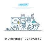 professor  education. training  ... | Shutterstock .eps vector #727693552