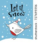 vector christmas card. greeting ... | Shutterstock .eps vector #727695556