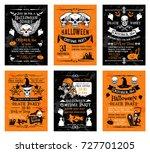 halloween night party night... | Shutterstock .eps vector #727701205