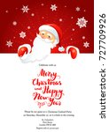 party santa winter card | Shutterstock .eps vector #727709926