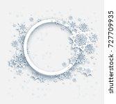winter snow frame | Shutterstock .eps vector #727709935