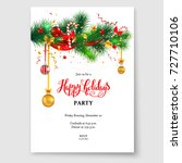 christmas card tree decoration | Shutterstock .eps vector #727710106