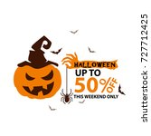 halloween sale design template... | Shutterstock .eps vector #727712425