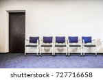 chairs row on the blue carpet... | Shutterstock . vector #727716658