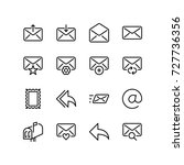 miscellaneous set of email icon | Shutterstock .eps vector #727736356