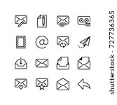 icon set of email and... | Shutterstock .eps vector #727736365