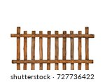 brown timber fence or... | Shutterstock . vector #727736422