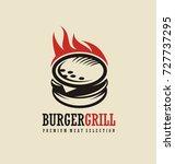 burger logo design idea. logo... | Shutterstock .eps vector #727737295