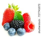 close up arrangement with mixed ... | Shutterstock . vector #727741072