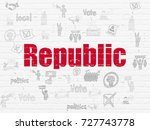 political concept  painted red... | Shutterstock . vector #727743778