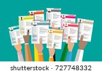 hands holding cv resume... | Shutterstock . vector #727748332