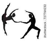 ballet couple   man and woman... | Shutterstock . vector #727764232