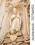 Small photo of View of a façade detail of the Cathedral of Lecce (Puglia, Italy).