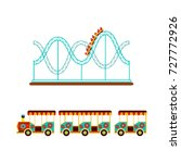 roller coaster  rollercoaster... | Shutterstock .eps vector #727772926