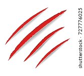animal claws scratches. red... | Shutterstock .eps vector #727776025