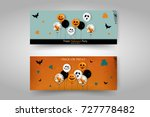 holiday halloween banner... | Shutterstock .eps vector #727778482