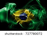 national smoke flag of brazil... | Shutterstock . vector #727780072